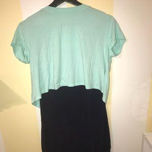 Two piece blue shirt dress